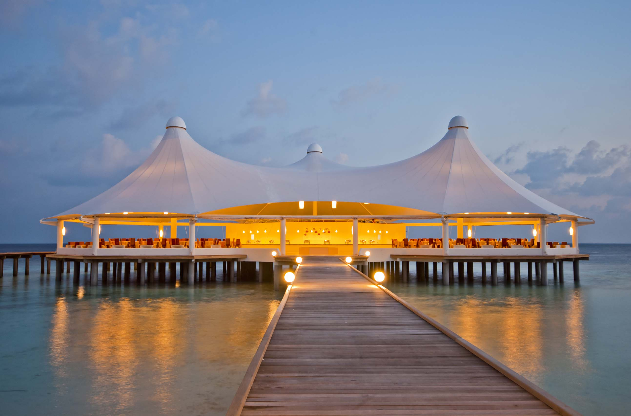 The luxurious Jetty in Safari Island Resort,Safari & Spa